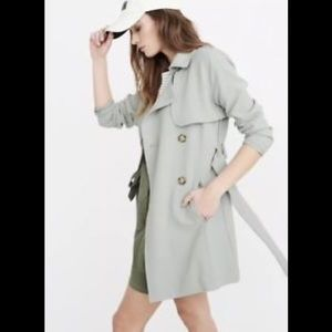 Abercrombie & Fitch mint green trench coat